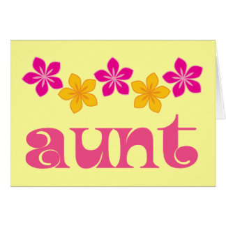 Gift For Aunt Card