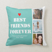 Gift for Best Friend Photo Template Custom Quote Throw Pillow