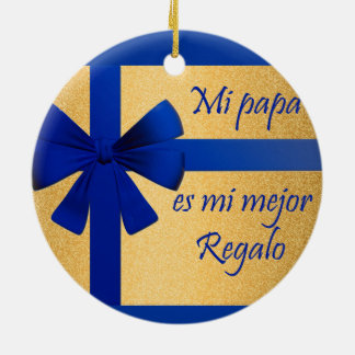 Gift for father ceramic ornament