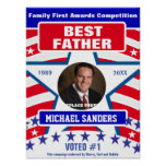 Gift for Fathers   Best Father Poster