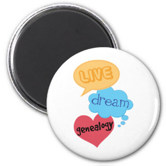 Gift for Genealogist 2 Inch Round Magnet