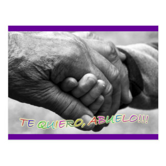 "Gift for grandfathers, ""I love grandfathers to You Postcards"