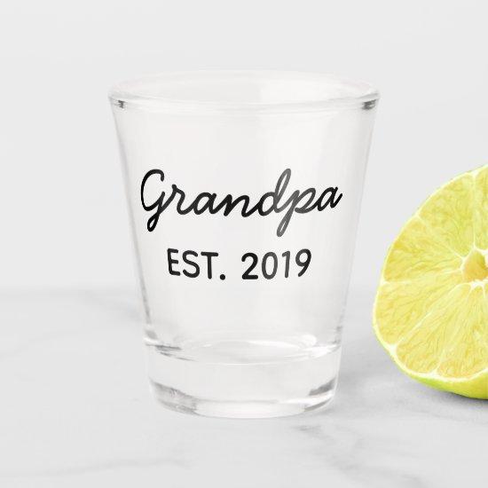 Gift for Grandpa Est. 2019 Whiskey Glasses for New