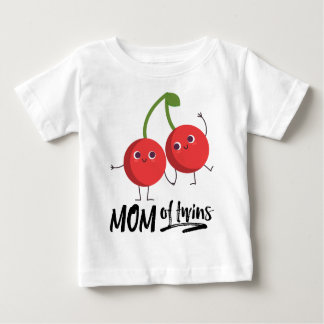 Gift for Her - Mom of Twins - Kawaii Fruits Baby T-Shirt