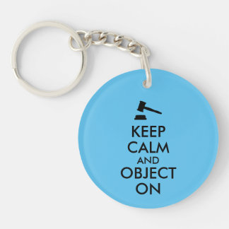 Gift for Lawyer Attorney Judge Law Student or Prof Double-Sided Round Acrylic Keychain