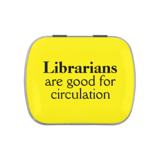 Gift for Librarian Candy Tin Funny Circulation Pun