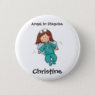 Gift for Nurse - Personalize with Name Pinback Button