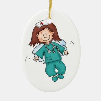 Gift for Nurses - Personalize with your name Ceramic Ornament