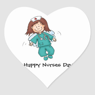 Gift for Nurses - Personalize with your name Heart Sticker