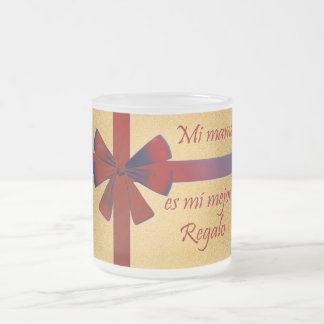 gift for special mother frosted glass coffee mug