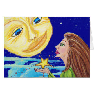 Gift for the Moon Notecard Greeting Cards