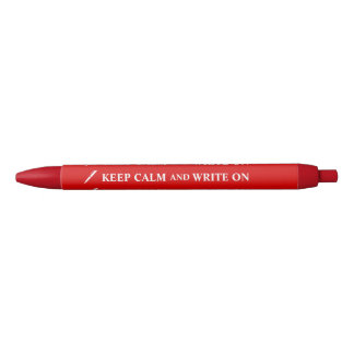 Gift for Writers Editors Keep Calm Pen Your Color