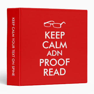 Gift for Writers Keep Calm and Proofread 3 Ring Binder