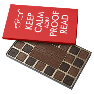Gift for Writers Keep Calm and Proofread 45 Piece Box Of Chocolates