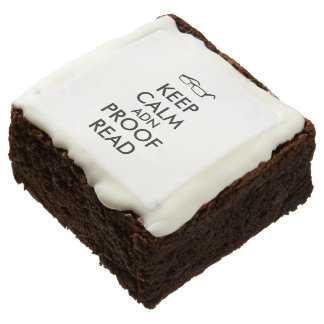 Gift for Writers Keep Calm and Proofread Brownie