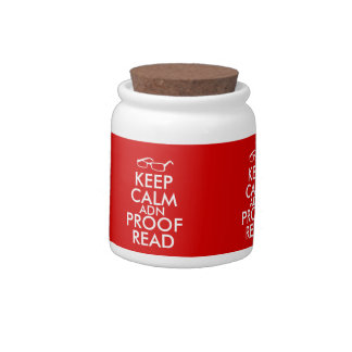 Gift for Writers Keep Calm and Proofread Candy Jar