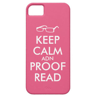 Gift for Writers Keep Calm and Proofread iPhone 5 Case