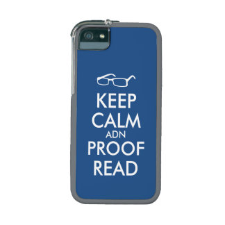 Gift for Writers Keep Calm and Proofread Case For iPhone 5