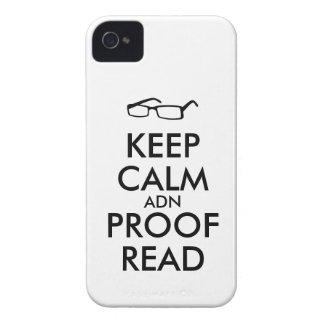 Gift for Writers Keep Calm and Proofread iPhone 4 Cases