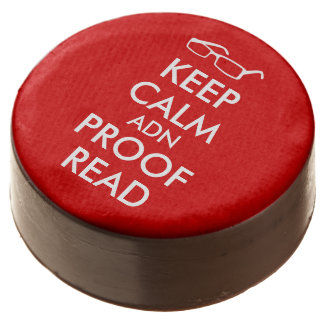 Gift for Writers Keep Calm and Proofread Chocolate Covered Oreo