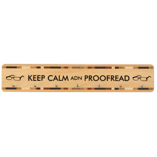 Gift for Writers Keep Calm and Proofread Key Rack