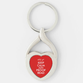 Gift for Writers Keep Calm and Proofread Keychain