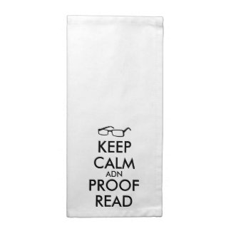 Gift for Writers Keep Calm and Proofread Napkin