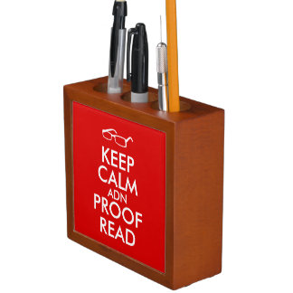 Gift for Writers Keep Calm and Proofread Pencil/Pen Holder