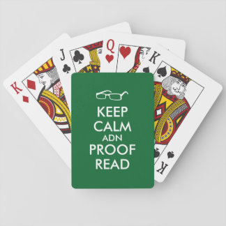 Gift for Writers Keep Calm and Proofread Playing Cards