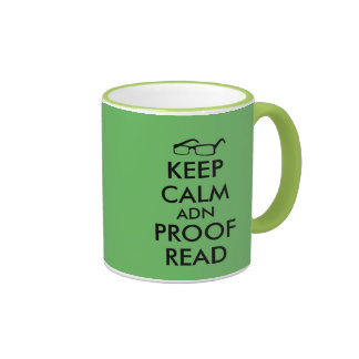 Gift for Writers Keep Calm and Proofread Ringer Mug
