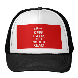 Gift for Writers Keep Calm and Proofread Trucker Hat