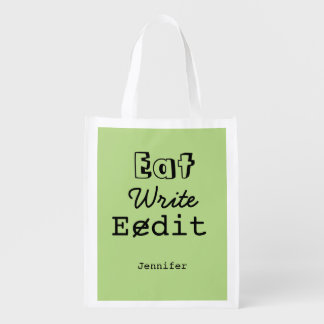 Gift for Writers Reusable Grocery Bag Funny Life