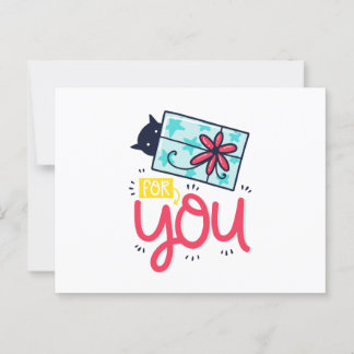 Gift for You Postcard and Envelope