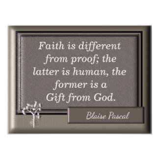 Gift from God - Art Print - Pascal quote
