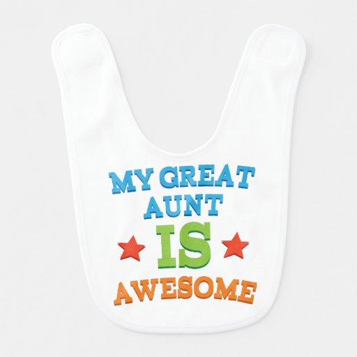 Baby Gift Aunt : Gift from great aunt baby infant bib zazzle