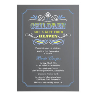 Gift from Heaven Blue Invitation