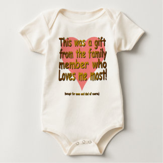 GIFT FROM THE FAMILY MEMBER BABY BODYSUIT