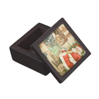 Gift Giving Santa Keepsake Box