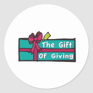 Gift Giving Classic Round Sticker