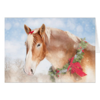 Gift Horse Christmas Card