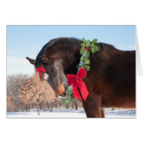 Gift Horse for Christmas Card
