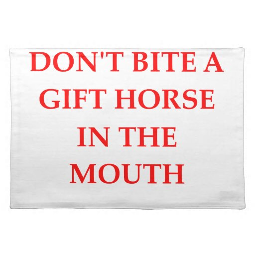 gift horse place mats