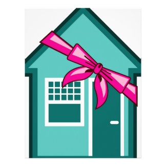 Gift, House for a present Letterhead