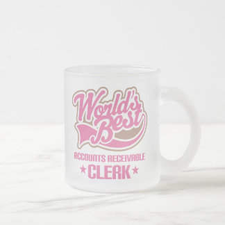 Gift Idea For Accounts Receivable Clerk Frosted Glass Coffee Mug
