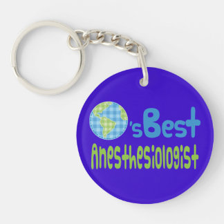 Gift Idea For Anesthesiologist (Worlds Best) Keychain