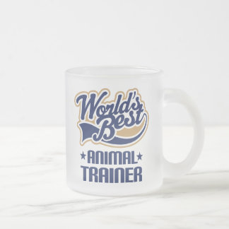 Gift Idea For Animal Trainer (Worlds Best) 10 Oz Frosted Glass Coffee Mug