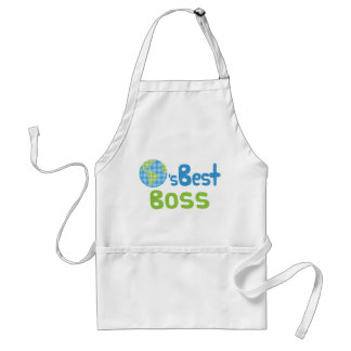 Gift Idea For Boss (Worlds Best) Aprons