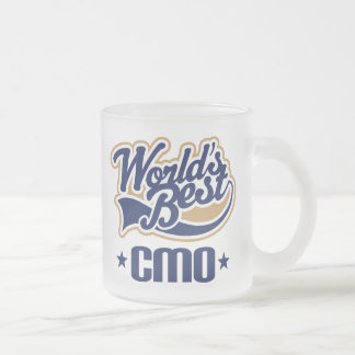 Gift Idea For Cmo (Worlds Best) 10 Oz Frosted Glass Coffee Mug