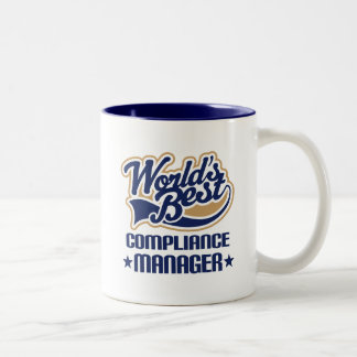Gift Idea For Compliance Manager (Worlds Best) Coffee Mugs