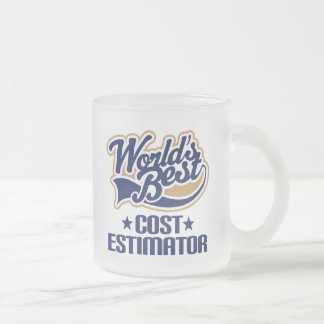 Gift Idea For Cost Estimator (Worlds Best) Frosted Glass Coffee Mug